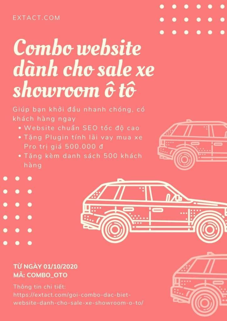 Website dành cho Sale xe Showroom Ô tô