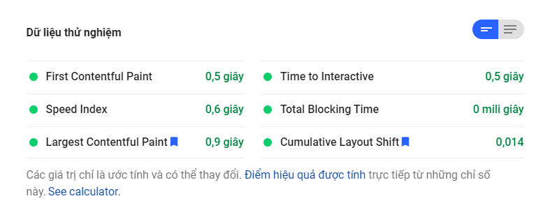Google page speed insight extact kiểm tra tốc độ web